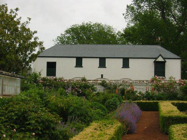 Coach house from garden