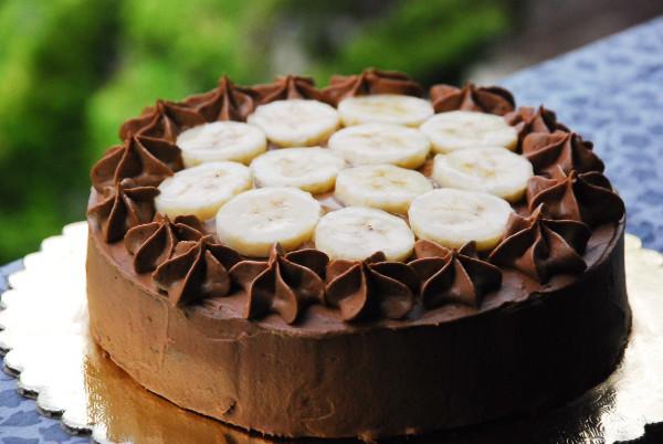 сложный шоколадно-банановый торт рецепт