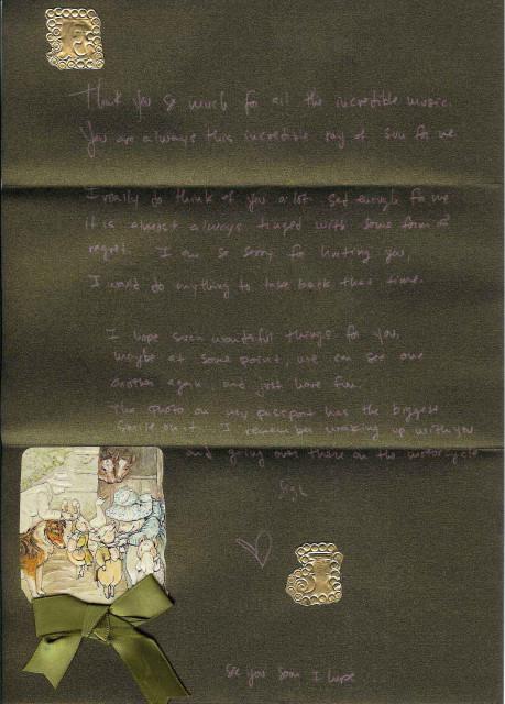 Jared's letter