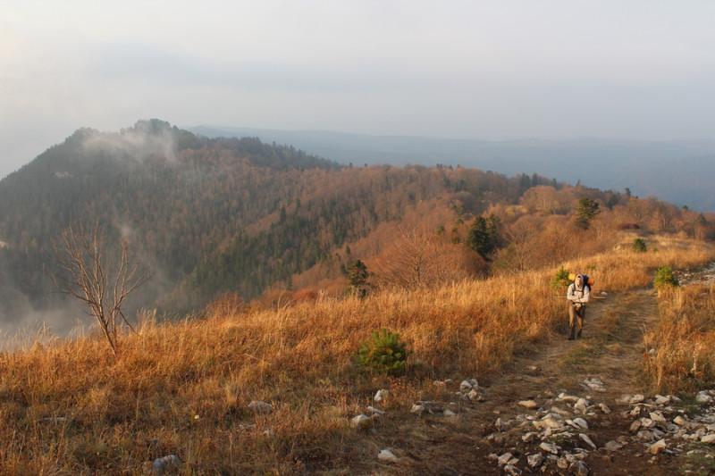 Лагонакский хребет, гора - Разрытая, около 1600-1700 метров
