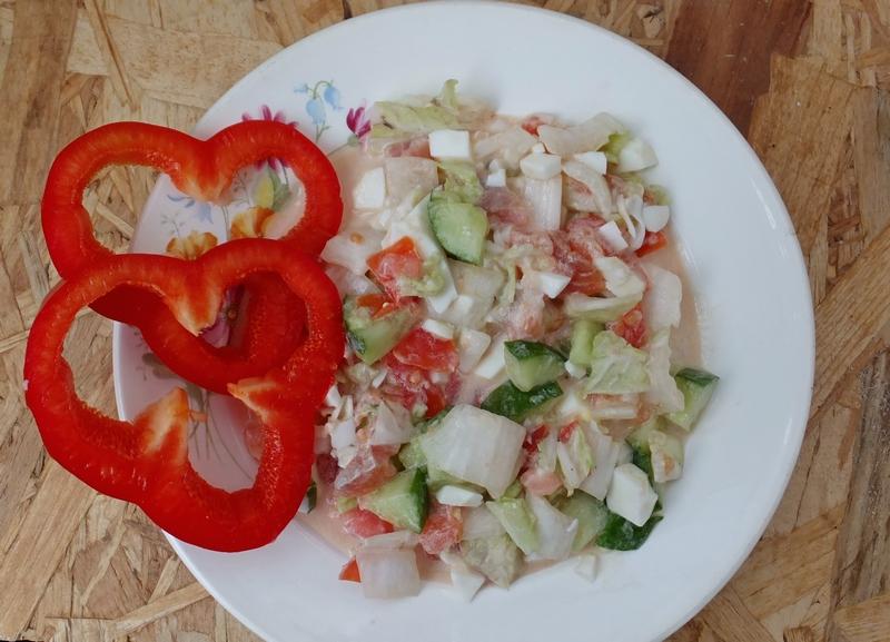 Салат цезарь пекинская капуста помидор