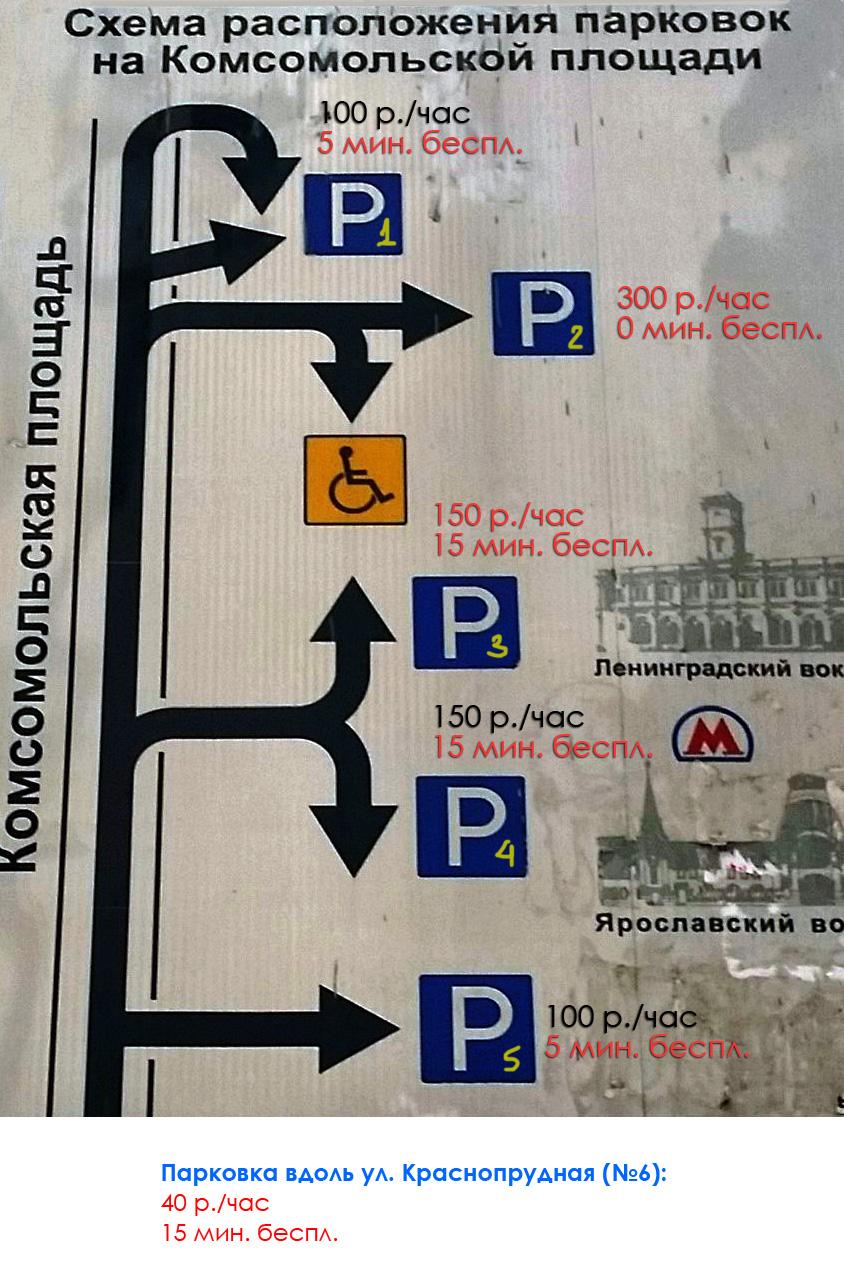 Схема парковки у ленинградского вокзала 2016 схема