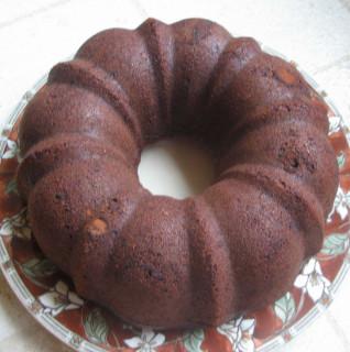 Chocolate-Orange Cake, pre-glaze