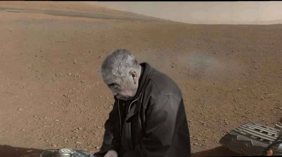 Снимок Curiosity с Марса