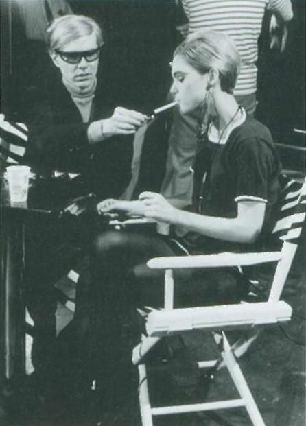 Энди и Эди на съемках одного из фильмов Уорхола (1965)