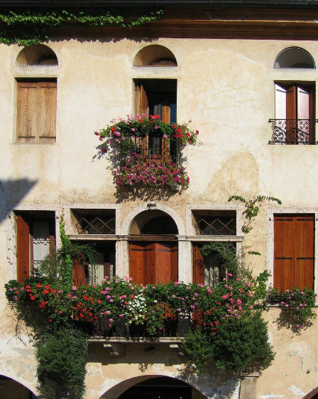 Формы балконов.