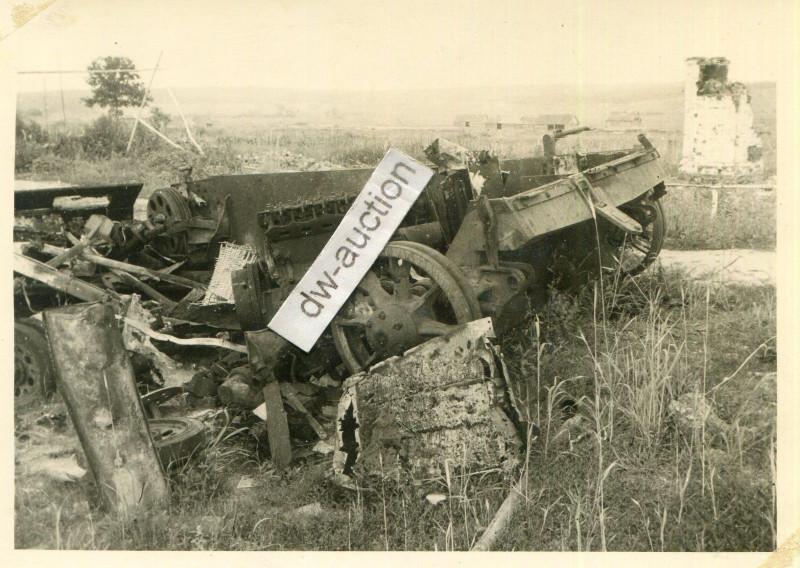 Sturmgeschütz auf Mine gefahren bei Reshewka