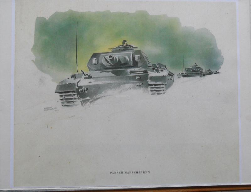 Panzer Russland 1942-43 Aquarell PK Hermann Schneider