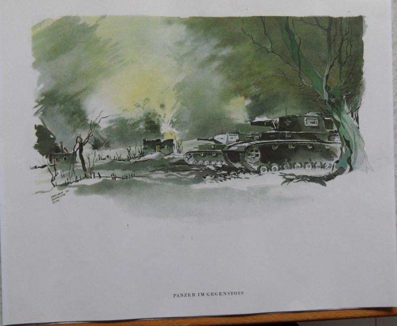 Panzer Russland 1942-43 Aquarell von PK Hermann Schneider 3