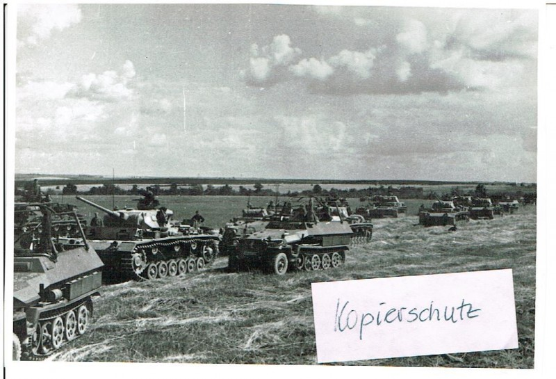Russland Feldzug 1942 11.08.42 Panzer Raum nördl. Bolchow