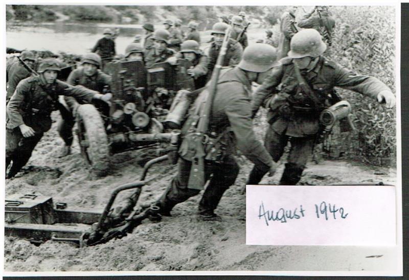 Russland Feldzug 14.08.1942 Shisdra-Übergang