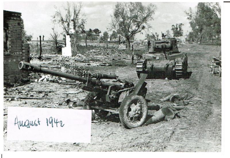Russland Feldzug 21.08.1942 Gretnja Panzer Grenadier Regiment 63