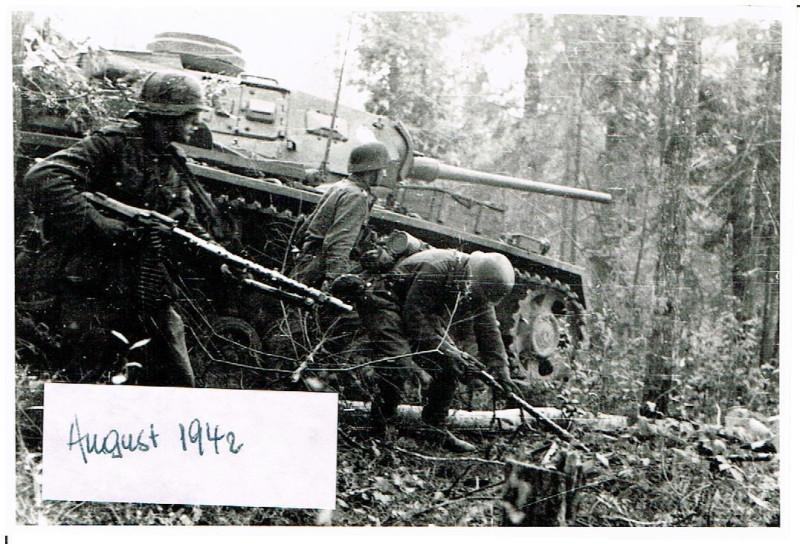 Russland Feldzug 22.08.1942 Wald Kolodesi Kradschtz Btl 59 + II. Pz Gren Rgt 40