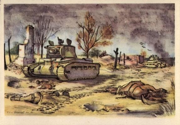 Einbruch in den feindlichen Graben 85 1