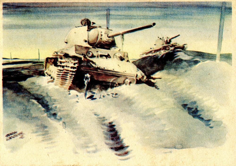Abgeschossene Sowjetpanzer vor Bely-Werch (80) 1