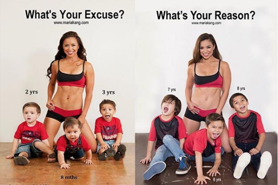 Фитоняшка с тремя детьми: а какие у вас оправдания?