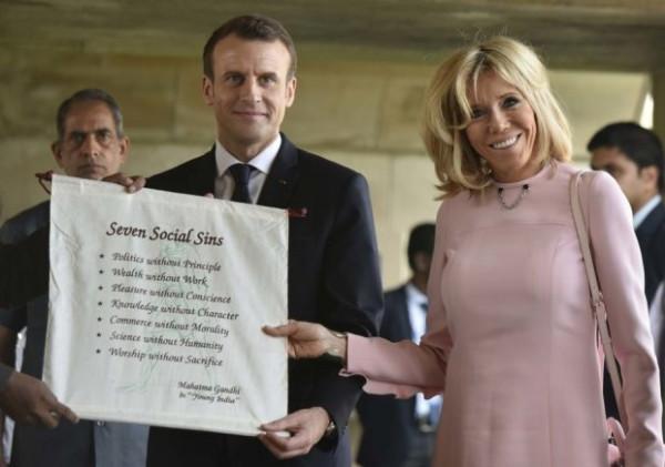 Позор жены французского президента