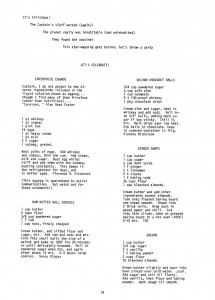 Pages from Star Trek The Trekker Cookbook REBUILT