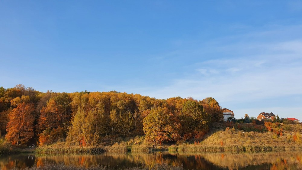 Третье озеро Щелковского хутора. Октябрь 2020