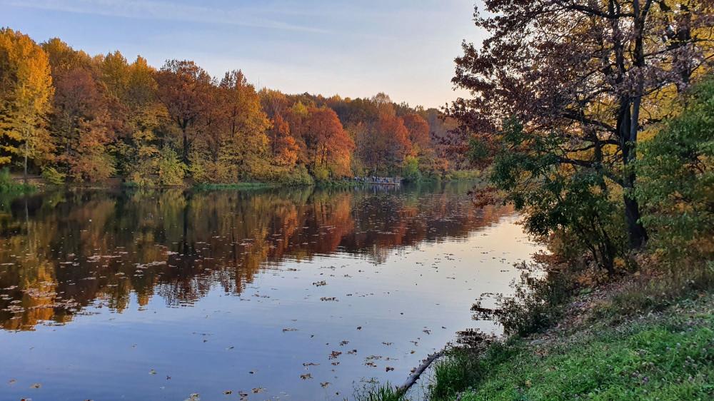 Снова второе озеро, уже в закатных лучах