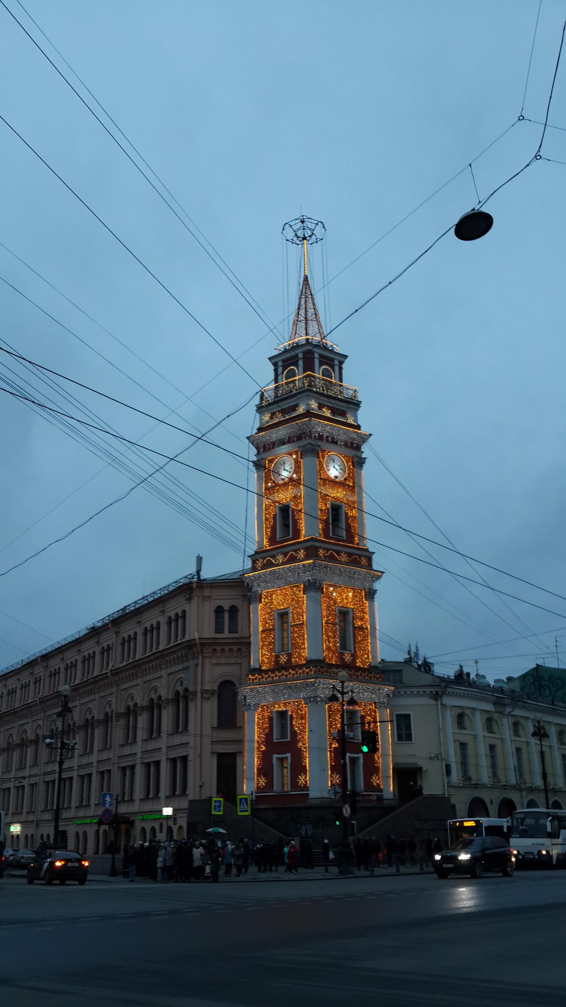 Питер, Башня городской думы, январь 2018
