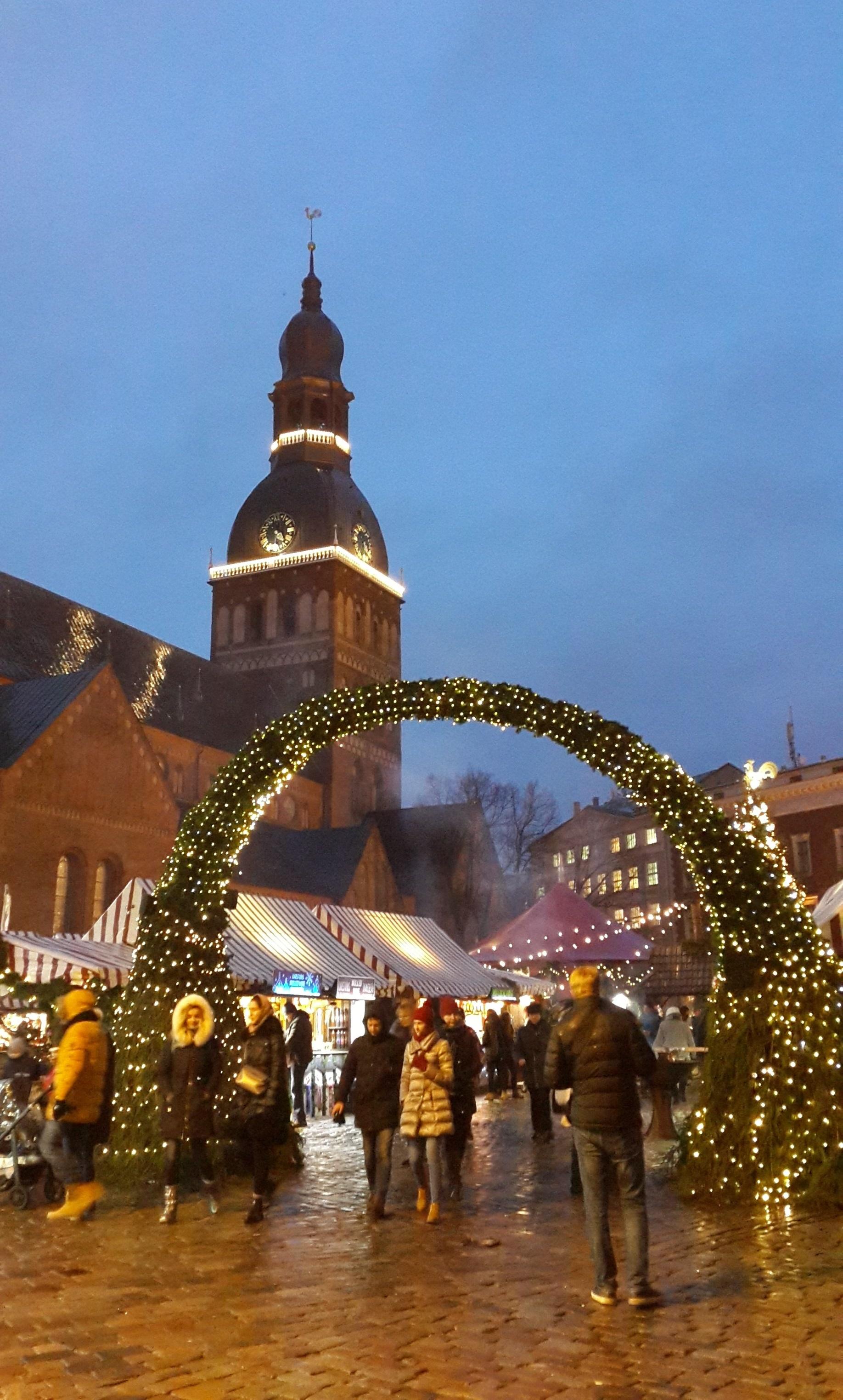 Домская площадь, Рига, Латвия, январь 2018