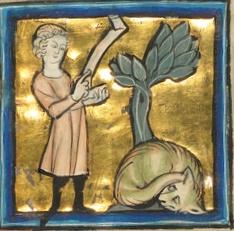 Музей Гетти бестиарий после 1277 человек и змея
