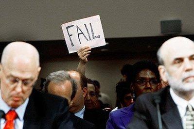 Fail sign behind Paulson and Bernanke