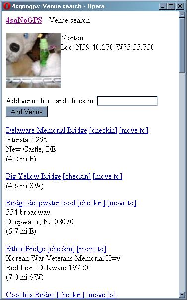 Venue Search by Keyword