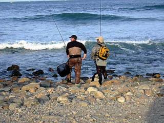Fishermen at Montauk Point