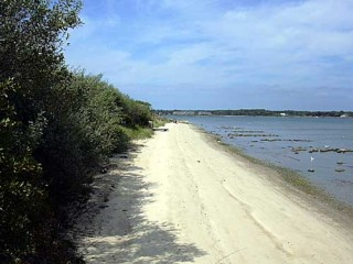 Beach at the Waterway Access