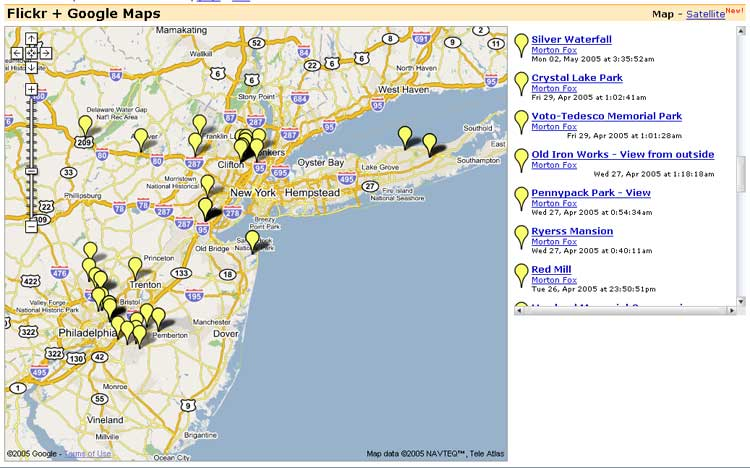 Geoblogger screenshot