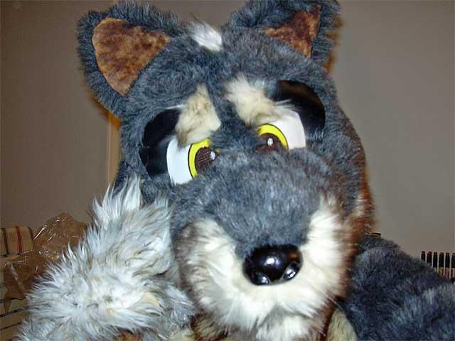 wolf-like fursuit