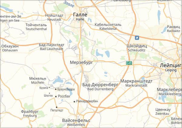 Россбах_карта