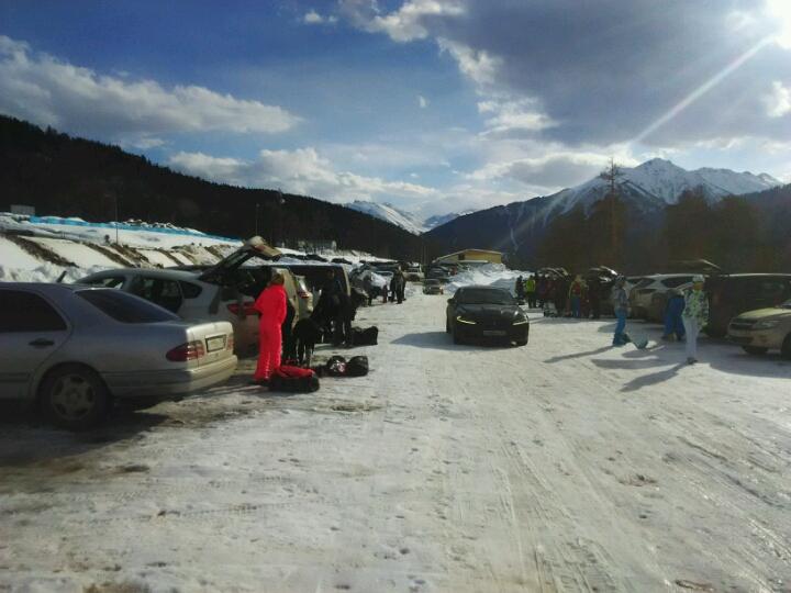 Архыз, парковка