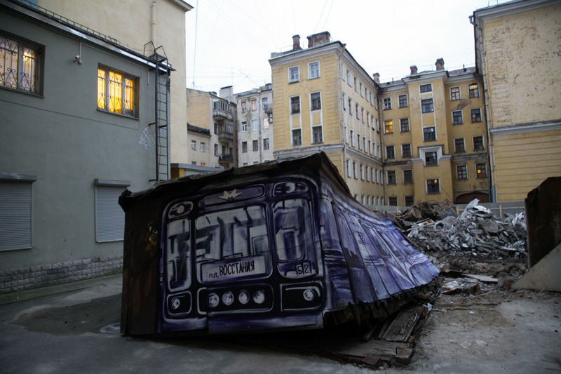 p183 Russian Banksy train