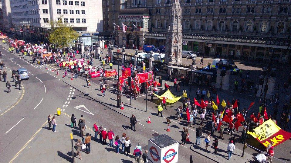 1 мая демонстрация в Лондоне