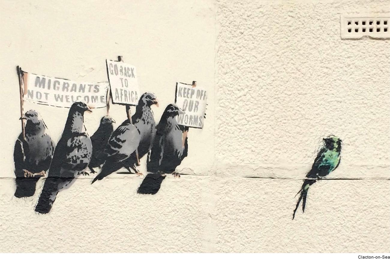 migrants banksy