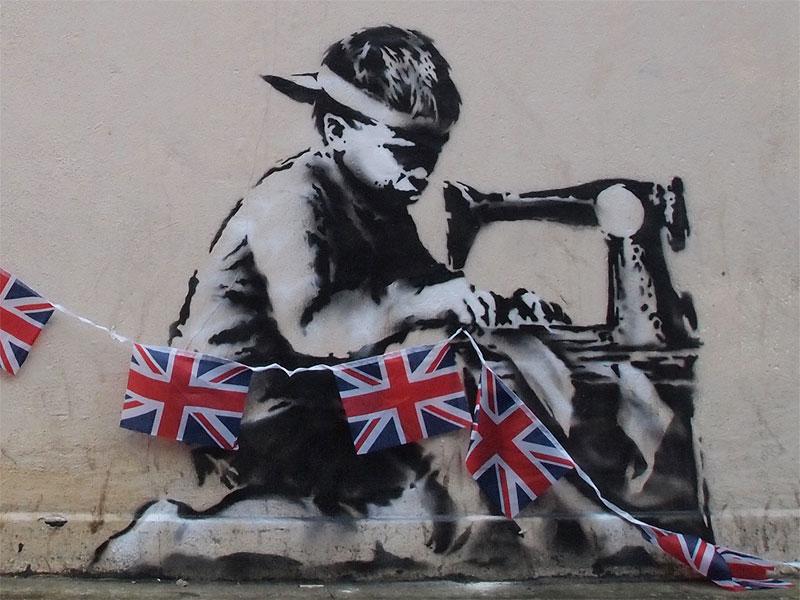 Banksy pound land
