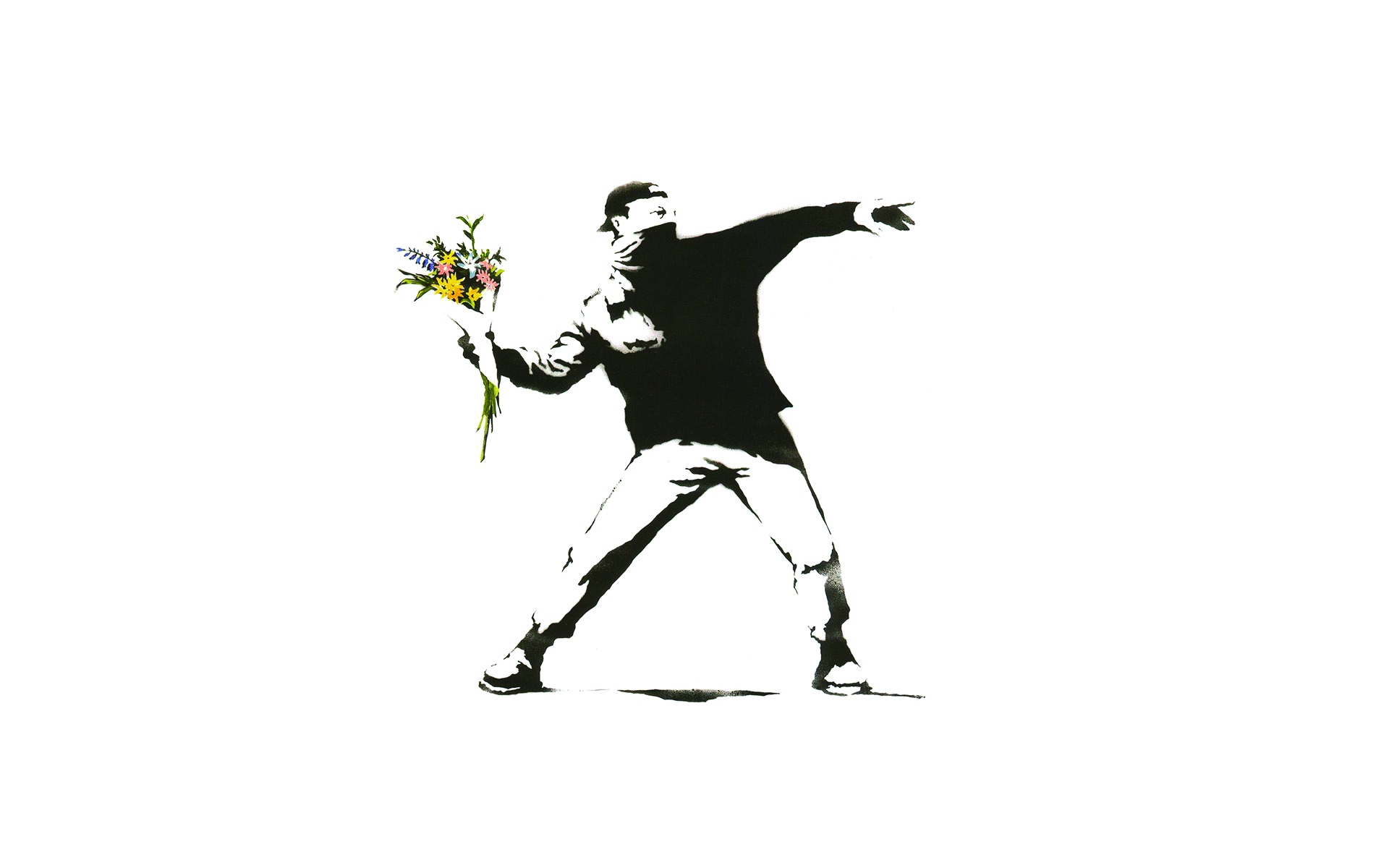 Flower Thrower Banksy
