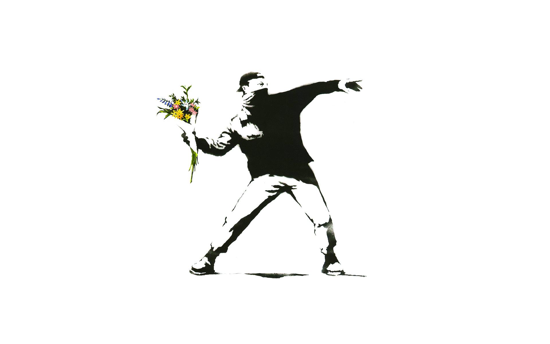 Flower Thrower Banksy