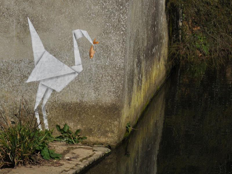 banksy bird