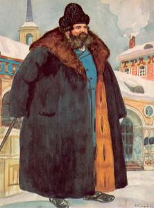 1. Кустодиев Б.М. Купец в шубе