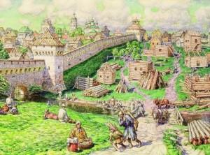 10. Васнецов А.М. Лубяной торг на Трубе в XVII веке