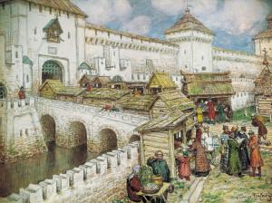 11. Васнецов А.М. Книжные лавочки на Спасском мосту в XVII веке