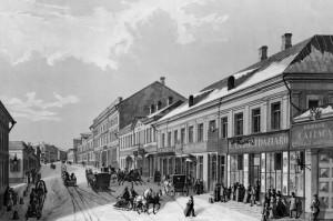 16. Кузнецкий мост в середине XIX века