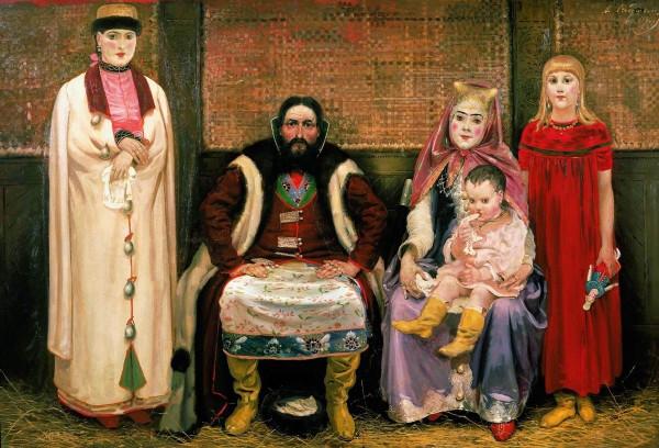 А. П. Рябушкин. Семья купца в XVll веке. 1896