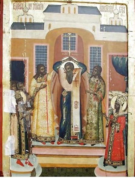 Икона первой четверти XVIII века. Иконостас Преображенской церкви о.Кижи