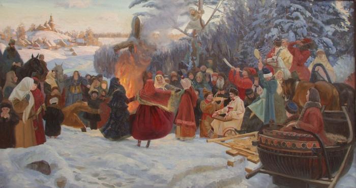 Кожин Семён Масленица. проводы зимы XVIIвек