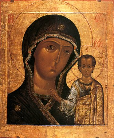 Казанская икона Богородицы из Елоховского собора